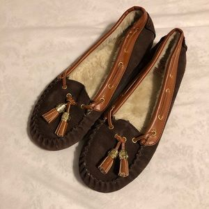 Lucky Brand Fur Lined Loafers Size 10